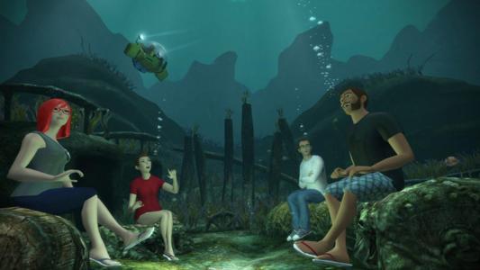 人们在VR世界里想去哪就去哪水下聊天